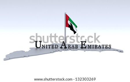 United Arab Emirates graphic - stock photo