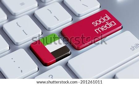United Arab Emirates  High Resolution Social Media Concept - stock photo