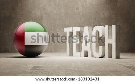 United Arab Emirates High Resolution Teach Concept - stock photo