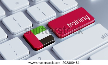 United Arab Emirates  High Resolution Training Concept - stock photo