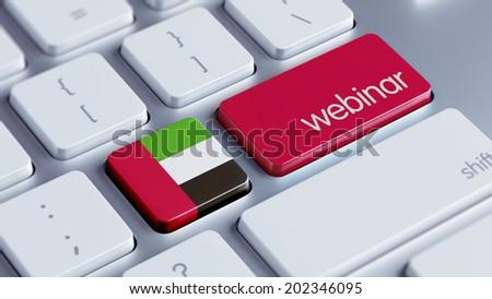 United Arab Emirates  High Resolution Webinar Concept - stock photo
