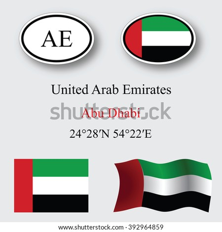 united arab emirates set against gray background, abstract art illustration, image contains transparency