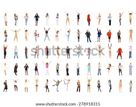 United Colleagues Teamwork Achievement  - stock photo