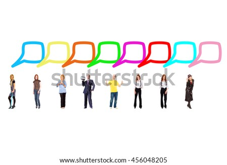 United Company Business Picture  - stock photo