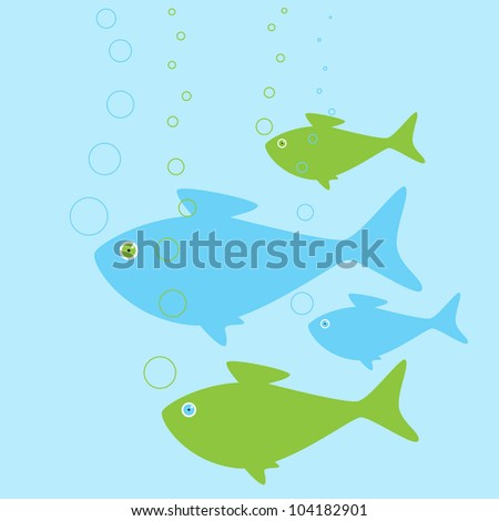 Happy fish stock images royalty free images vectors for Happy fish swimming