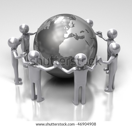 United for the World - stock photo