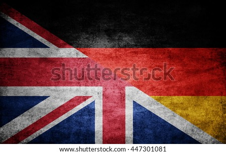 United Kingdom and Germany dark flag texture