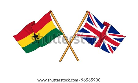 United Kingdom and Ghana alliance and friendship - stock photo