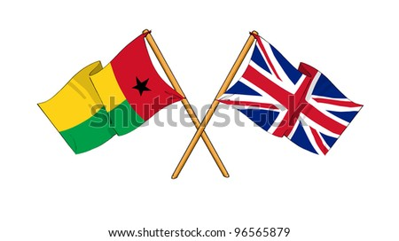 United Kingdom and Guinea-Bissau alliance and friendship - stock photo