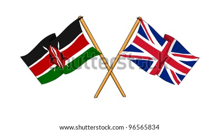 United Kingdom and Kenya alliance and friendship - stock photo