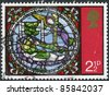 UNITED KINGDOM - CIRCA 1971: A stamp printed in England, Christmas (from Stained Glass Windows Canterbury Cathedral): Dream of the Kings, circa 1971 - stock photo