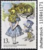 UNITED KINGDOM - CIRCA 1979: A stamp printed in Great Britain shows Alice's Adventures in Wonderland, circa 1979 - stock photo