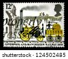 """UNITED KINGDOM - CIRCA 1980: A stamp printed in United Kingdom shows a """"Rocket"""" Locomotive, with inscriptions and name of series """"Liverpool and Manchester railway, 1830"""", circa 1980 - stock photo"""