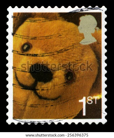 UNITED KINGDOM - CIRCA 2006: A used British Postage Stamp depicting an image of a Teddy Bear, circa 2006. - stock photo