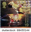 UNITED KINGDOM - CIRCA 1998: stamp printed in Great Britain shows Freddie Mercury, leader of Queen, circa 1998 - stock photo