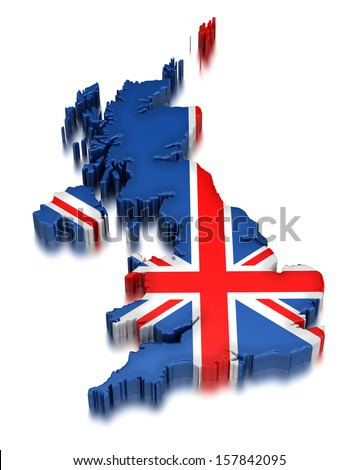 United Kingdom  (clipping path included) - stock photo