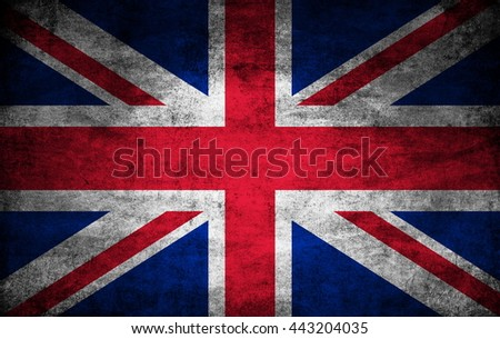 United Kingdom dark flag texture - stock photo