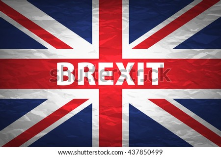 United Kingdom exit from europe relative image. Brexit named politic process. Referendum theme art - stock photo