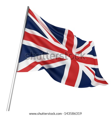 United Kingdom Flag - stock photo