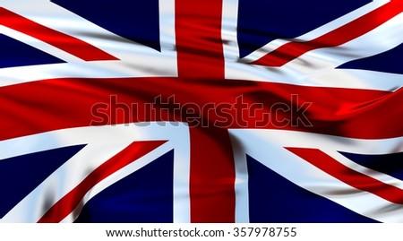 United Kingdom Flag. 3d illustration - stock photo