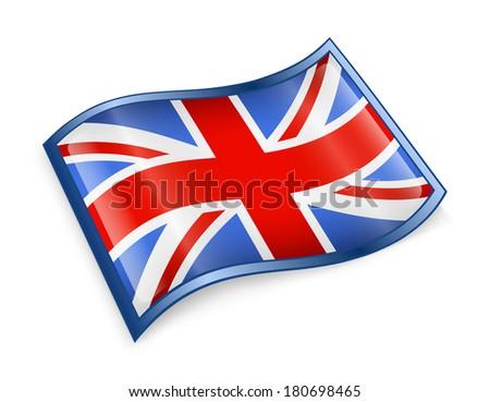 United Kingdom Flag Icon, isolated on white background - stock photo