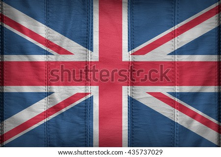 United Kingdom flag pattern on synthetic leather texture
