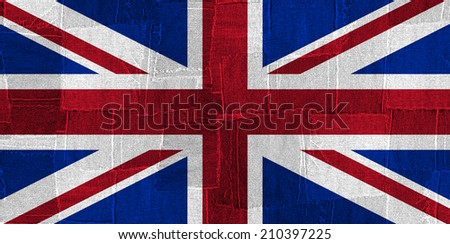 United Kingdom flag with fabric background