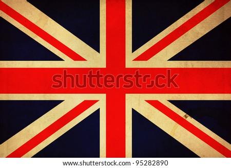 United kingdom grunge flag background - stock photo
