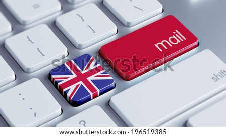 United Kingdom High Resolution Mail Concept - stock photo