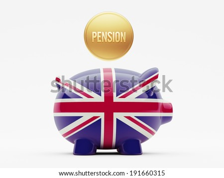 United Kingdom High Resolution Pension Concept - stock photo