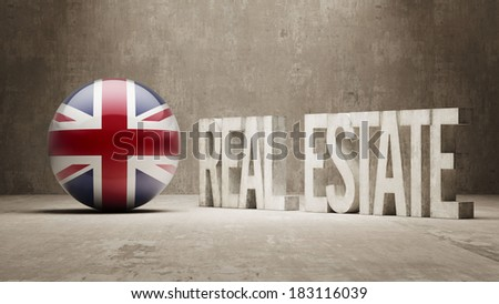 United Kingdom High Resolution Real Estate Concept - stock photo