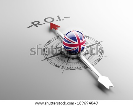 United Kingdom High Resolution ROI Concept - stock photo