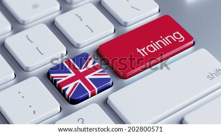 United Kingdom High Resolution Training Concept - stock photo