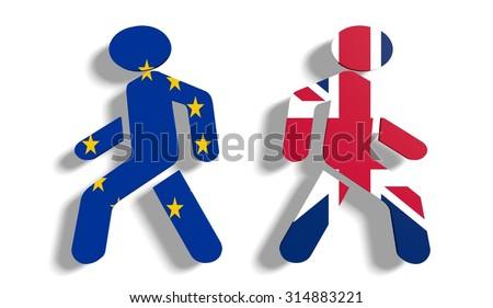 united kingdom leaves european union - stock photo