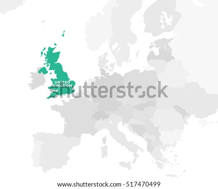 Belgium location modern detailed map all vectores en stock 438238621 united kingdom location modern detailed map all european countries without names template of beautiful gumiabroncs Images