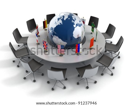 United nations, global politics, diplomacy, strategy, environment, world leadership 3d concept - stock photo