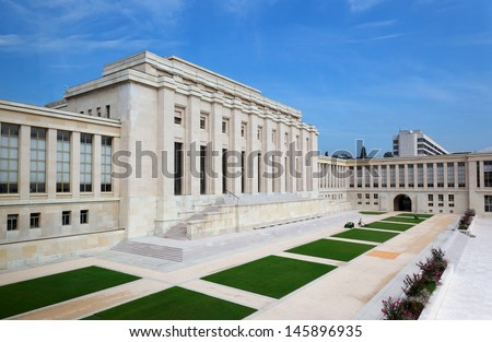 United nations organizations building in Geneva - stock photo