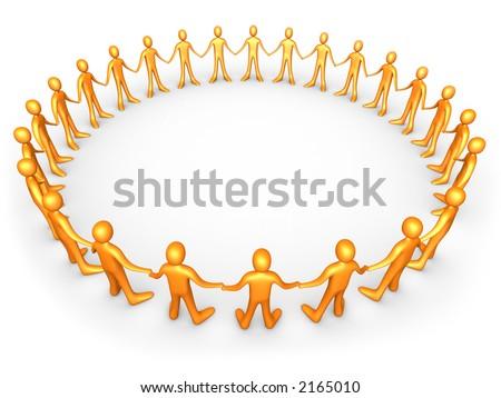 United People - Orange - stock photo
