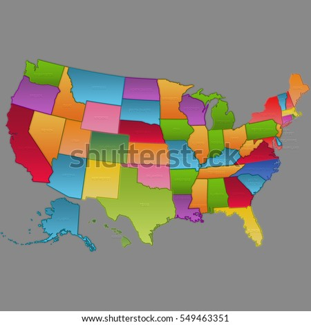 United State Countries Map