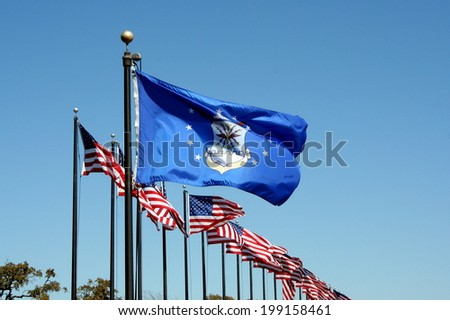 United States Air Force Flag - stock photo