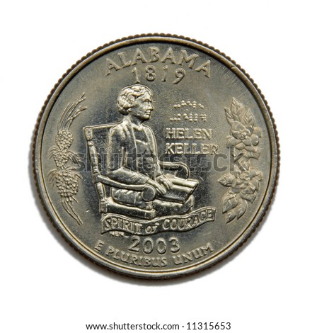 United States Alabama collection quarter dollar - stock photo