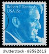 UNITED STATES AMERICA - CIRCA 1960: A postage stamp printed in the USA showing Robert F. Kennedy, circa 1960 - stock photo