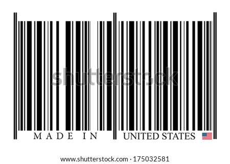 United States Barcode on white background