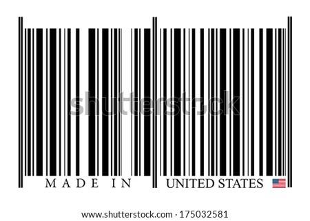 United States Barcode on white background - stock photo
