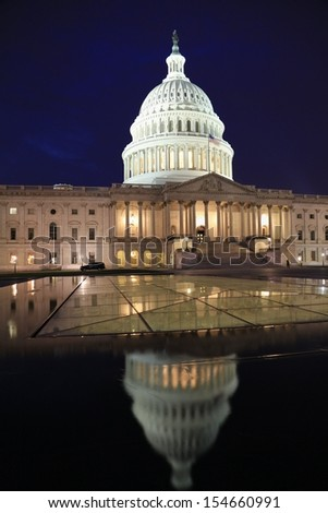 United States Capitol at dusk, Washington DC - stock photo