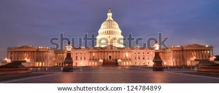 United States Capitol Building east facade - Washington DC United States - stock photo