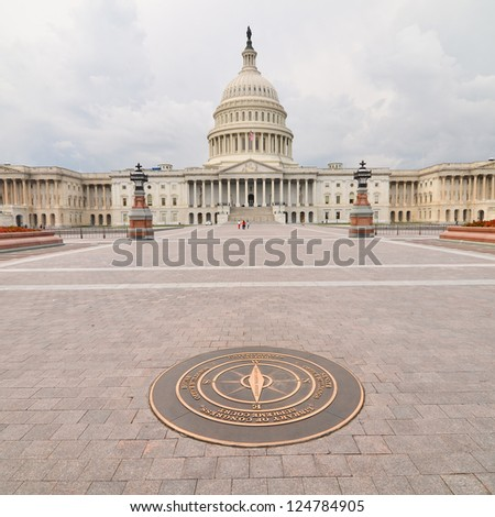 United States Capitol Building east facade - Washington DC United States - stock photo