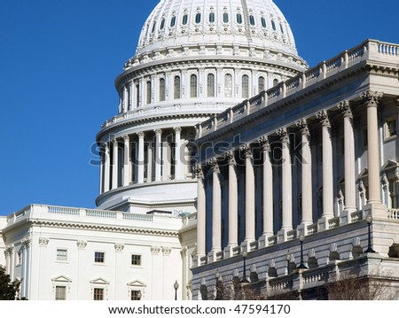 United States Capitol building in Washington DC. - stock photo