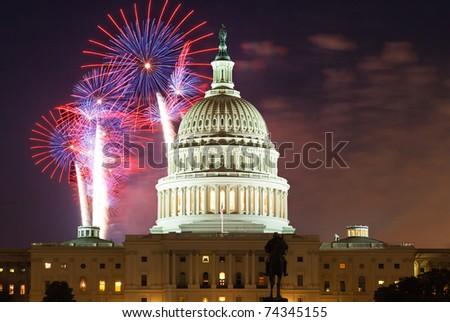 United States Capitol Building in Washington DC - stock photo