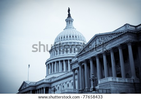 United States Capitol building in Washington, DC. - stock photo